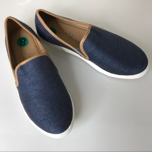 Splendid blue slip on sneakers